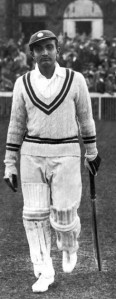 Vijay Merchant during the England - All India test match at Old Trafford, 25th July 1936. (Photo by Keystone/Hulton Archive/Getty Images)